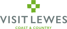 """Visit Lewes logo with the words """"Visit Lewes Coast and Country"""""""